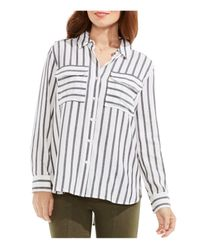 Two By Vince Camuto | White Stripe Button-down Shirt | Lyst