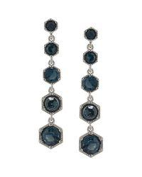 Ralph Lauren - Blue Lauren Hexagon Linear Drop Earrings - Lyst