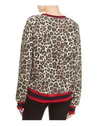 Pam & Gela Multicolor Leopard Print Sweatshirt