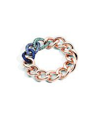 Pomellato | Tanzanite And Blue Sapphire Set In Burnished Silver | Lyst