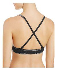 Calvin Klein - Black Id Triangle Bralette - Lyst