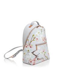 Ted Baker - Multicolor Darissa Oriental Bloom Leather Backpack - Lyst