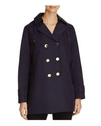 T Tahari | Blue Angelina Double-breasted Trench Coat | Lyst