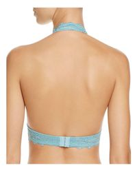Free People | Multicolor Galloon Lace Halter Bralette | Lyst