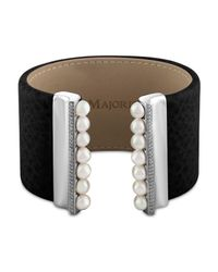 Majorica - Multicolor Simulated Pearl Large Cuff - Lyst