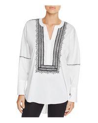 Natori - White Breeze Dolman Sleeve Embroidered Tunic - Lyst