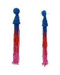 Aqua - Multicolor Marylse Ombre Tassel Earrings - Lyst