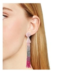Aqua - Pink Marylse Ombre Tassel Earrings - Lyst