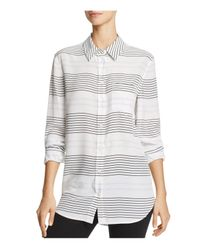 Equipment | White Reese Silk Striped Shirt | Lyst