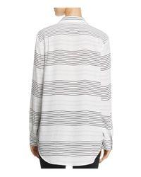 Equipment   White Reese Silk Striped Shirt   Lyst