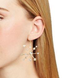 R.j. Graziano - Metallic Starburst Drop Earrings - Lyst
