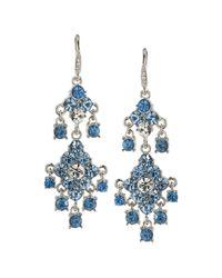 Carolee | Blue Chandelier Earrings | Lyst