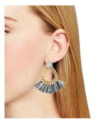 BaubleBar | Metallic Ashira Fringe Hoop Earrings | Lyst