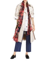 Burberry - Multicolor Scribble Vintage Check Gauze Oblong Scarf - Lyst
