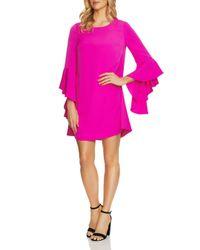 Cece by Cynthia Steffe - Pink Ashley Bell-sleeve Dress - Lyst
