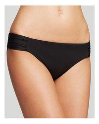 Becca - Black Color Code Shirred Tab Bikini Bottom - Lyst