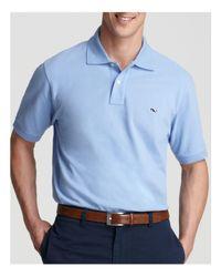 Vineyard Vines Blue Solid Piqué Polo - Classic Fit for men