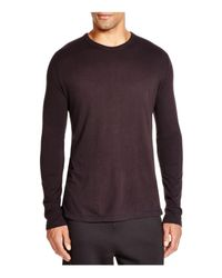 T By Alexander Wang Black Classic Long Sleeve Tee for men