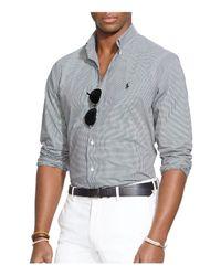 Polo Ralph Lauren - Black Checked Poplin Button-down Shirt - Classic Fit for Men - Lyst