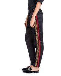 The Kooples Black Side-stripe Drawstring Pants