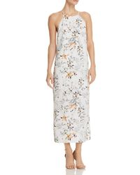 Aqua - Natural Floral Racerback Maxi Dress - Lyst