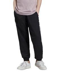Adidas Originals Black Three Stripe Track Pants for men