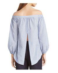 BCBGMAXAZRIA - Blue Ellsie Off-the-shoulder Top - Lyst