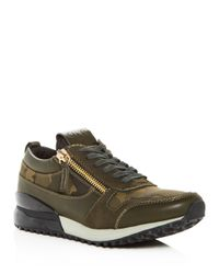 SNKR Project Green Men's Rodeo Camo Color-block Lace Up Sneakers for men