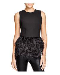 Lucy Paris Black Feather Trim Top - Bloomingdale's Exclusive