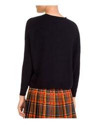 The Kooples Black Guipure Bee-detail Sweater
