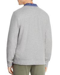 Vineyard Vines - Gray Reverse Oxford Pique Quarter-zip Pullover for Men - Lyst