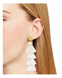 BaubleBar | White Luisa Tassel Drop Earrings | Lyst