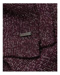 Ted Baker   Purple Tescarf Half Cardigan Rib Scarf for Men   Lyst