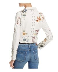 Blank NYC - Multicolor Floral Embroidered Studded Faux Leather Moto Jacket - Lyst
