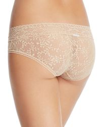 Calvin Klein - Natural Bare Lace Hipster - Lyst
