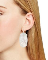 Kendra Scott - White Danielle Matte Statement Earrings - Lyst