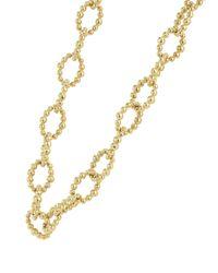 Lagos Metallic Caviar Gold Collection 18k Gold Beaded Link Necklace