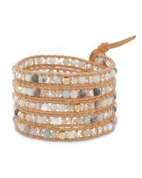 Chan Luu - Multicolor Beaded Leather Wrap Bracelet - Lyst