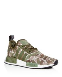 adidas Men's Nmd R1 Camo Print Lace Up Sneakers in Tan (Green) for ...