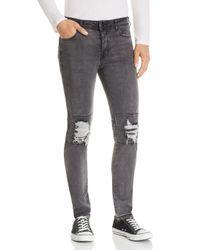 NANA JUDY Legacy Destroyed Slim Fit Jeans In Black Brushed for men
