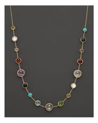 "Ippolita - Metallic 18k Gold Rock Candy Lollitini Short Necklace, 16"" - Lyst"
