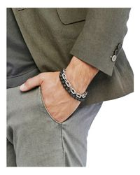 John Hardy - Metallic Sterling Silver Classic Chain Wrap Bracelet With Volcanic Rock for Men - Lyst