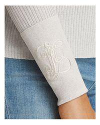 Tory Burch - White Lana Ribbed Turtleneck Sweater - Lyst