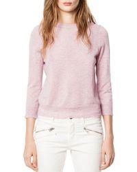Zadig & Voltaire Pink Missy Cachemire Sweater
