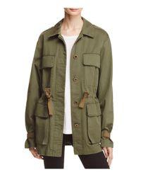 Theory Green Thornwood Washed Chino Jacket