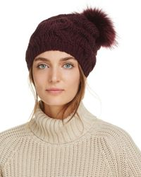 Echo Brown Fur Pom-pom Beanie