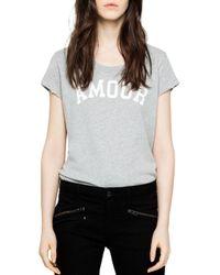 Zadig & Voltaire Gray Seattle Bis Short-sleeve Sweatshirt
