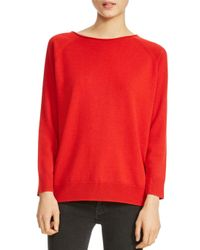Maje - Red Macademia Chain-back Sweater - Lyst