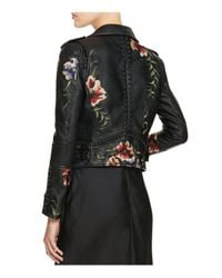 Blank NYC - Black Studded Embroidered Faux-Leather Motorcycle Jacket  - Lyst