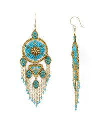 Miguel Ases | Blue Frog Chandelier Earrings | Lyst